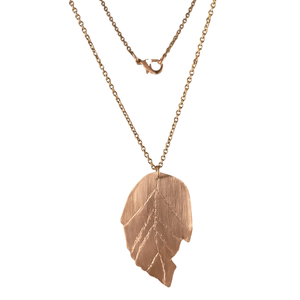 Elm Leaf Copper Necklace-Necklaces- Creative Jewelry by Marcia