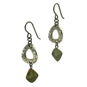 Silver Geometric Design Dangle Earrings for Sensitive Ears-Earrings- Creative Jewelry by Marcia