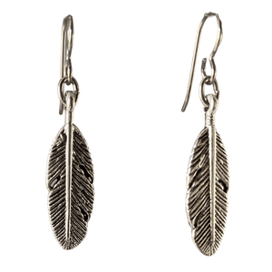 Silver Long Leaf Earrings for Sensitive Ears-Earrings- Creative Jewelry by Marcia