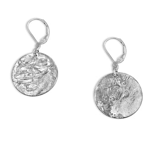 Silver Circle Earrings - Creative Jewelry by Marcia - Asymmetrical Jewelry - Timeless Jewelry