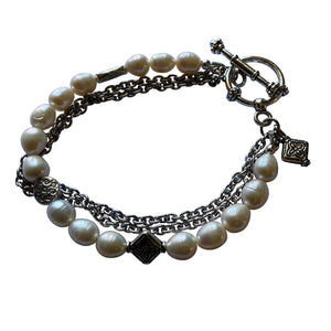 Fresh Water Pearl Bracelet - Creative Jewelry by Marcia - Asymmetrical Jewelry - Timeless Jewelry
