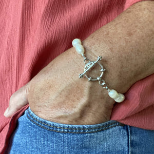 Baroque Pearl Bracelet with Toggle Clasp-Bracelets- Creative Jewelry by Marcia