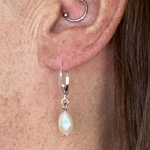 Freshwater Pearl Earrings-Earrings- Creative Jewelry by Marcia