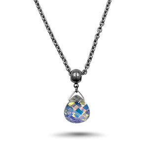 AB Swarovski Crystal Necklace - Creative Jewelry by Marcia - Asymmetrical Jewelry - Timeless Jewelry