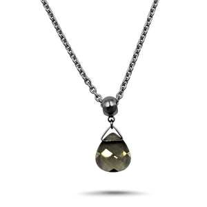 Black Diamond Swarovski Crystal Necklace - Creative Jewelry by Marcia - Asymmetrical Jewelry - Timeless Jewelry