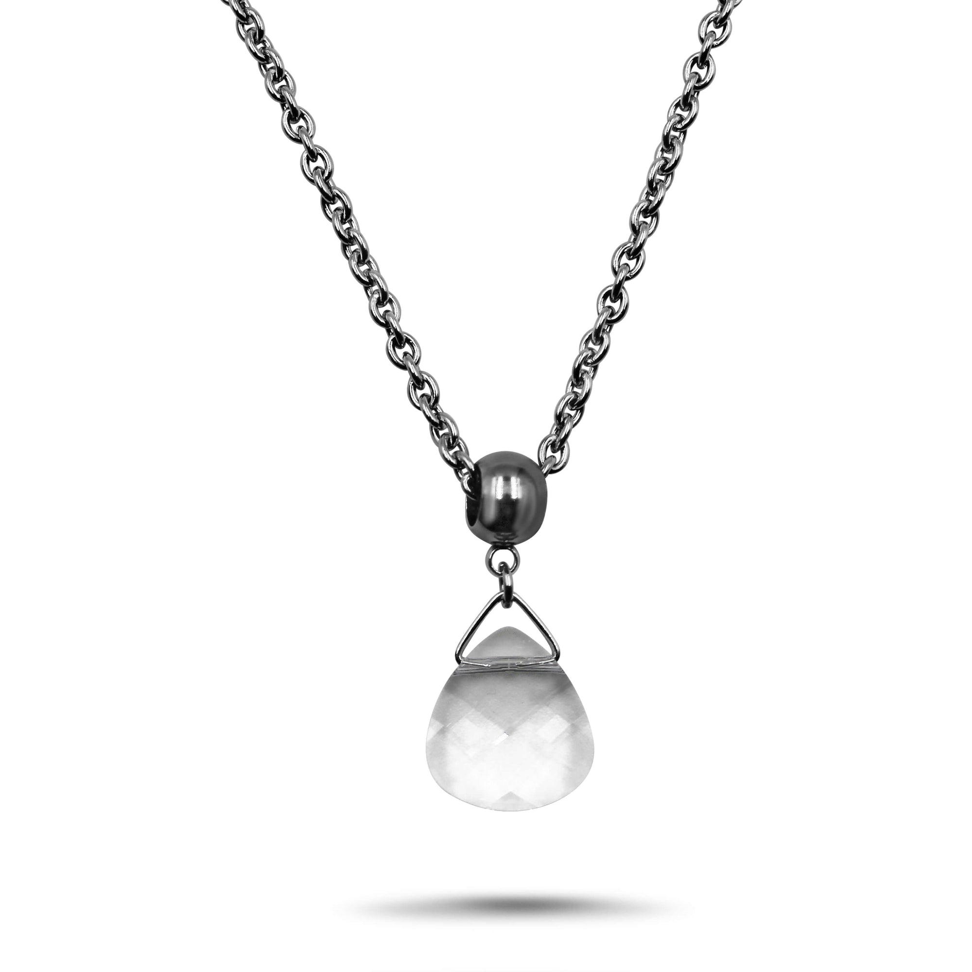 Clear Swarovski Crystal Necklace - Creative Jewelry by Marcia - Asymmetrical Jewelry - Timeless Jewelry