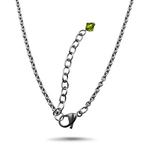 Olivine Swarovski Crystal Necklace- Creative Jewelry by Marcia