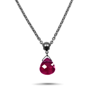 Ruby Swarovski Crystal Necklace- Creative Jewelry by Marcia