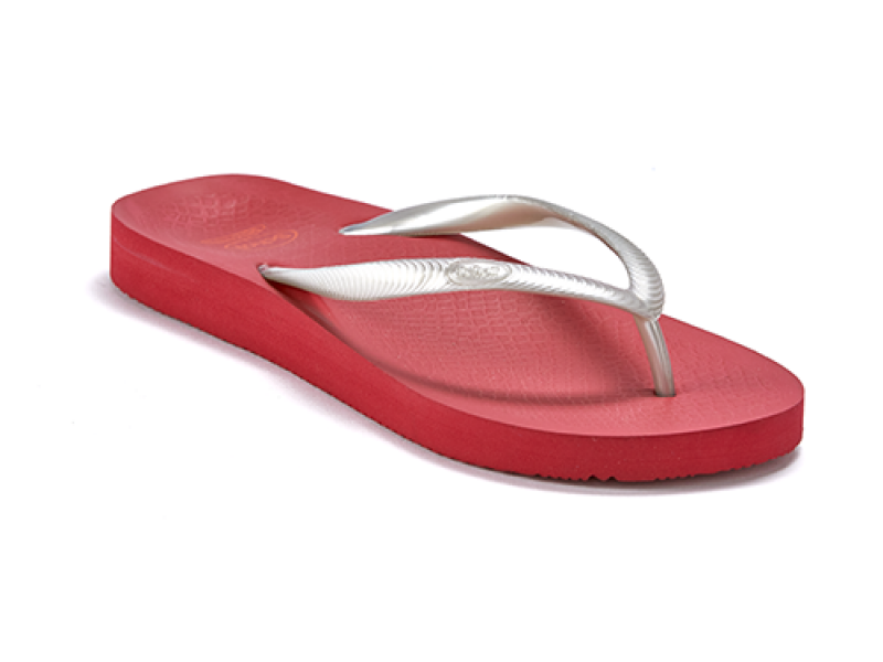 SCHOLL ORTHAHEEL FIJI RED SILVER