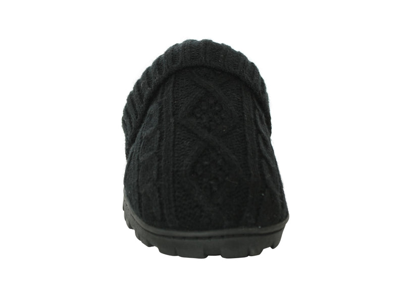 JESSICA SIMPSON - CABLE KNIT SLIPPER BLACK