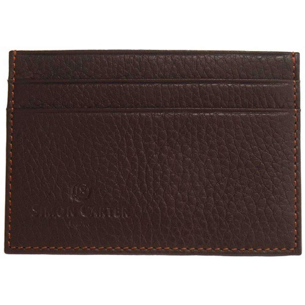 SIMON CARTER LEATHER CARD HOLDER