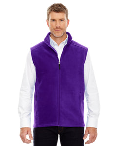 Embroidered Men's Ash City Full-zip Fleece Vest