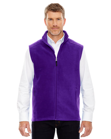 Embroidered Men's  Full-zip Fleece Vest