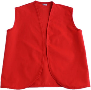 Adult Plain weave Poly/Cotton Vest with no pockets