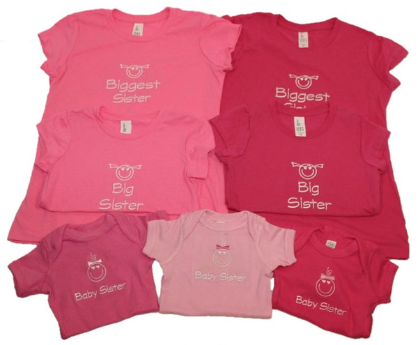 Big/Biggest Sister Embroidered T-shirt