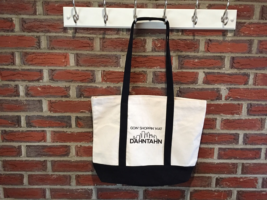 Pittsburghese Goin' Shoppin' N'at Dahntahn Canvas Tote Bag