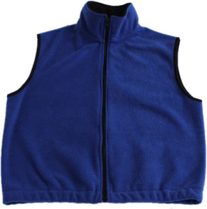 Embroidered Youth 100% Polyester Full-zip Fleece Vest