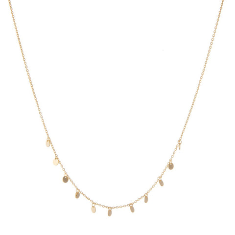 DAINTY GOLD CIRCLE NECKLACE