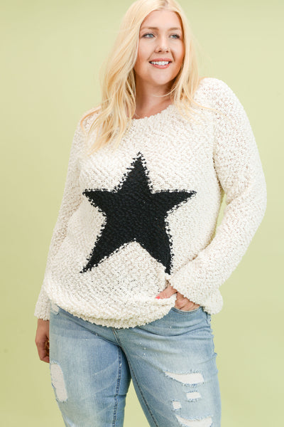 PLUS VANILLA STAR SWEATER