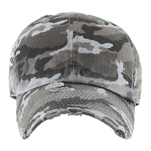 CAMO VINTAGE DISTRESSED CAP