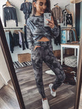GREY & BLACK TIE DYE JOGGER SET