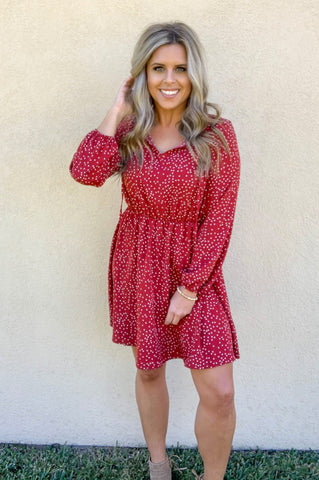 CRANBERRY DOT DRESS