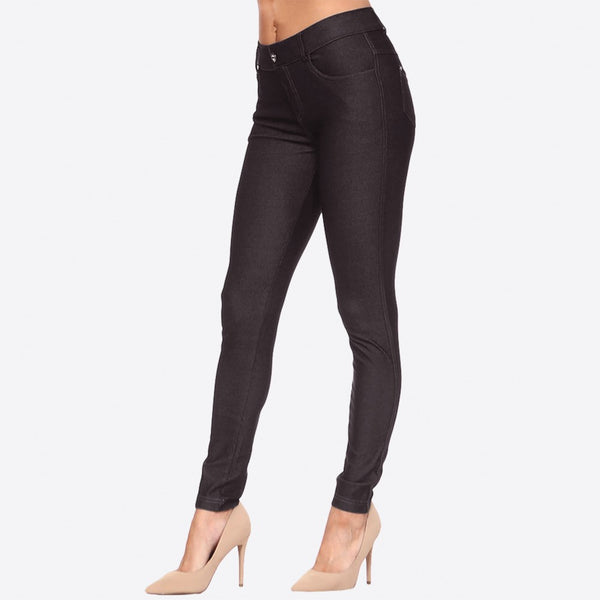 CLASSIC SOLID SKINNY JEGGINGS