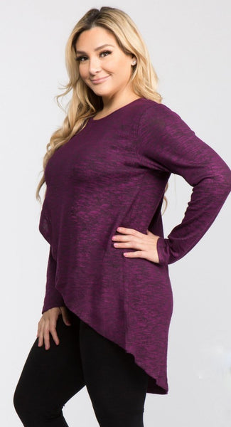 PLUS PURPLE TUNIC SWEATER