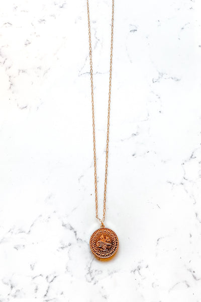 GOLD TURKISH COIN PENDANT NECKLACE