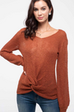 RUST TWIST FRONT SWEATER
