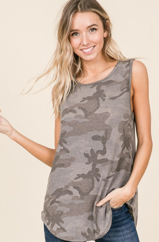 CHARCOAL CAMO RELAXED TANK