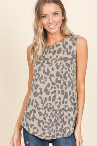 ANIMAL PRINT RELAXED TANK