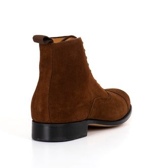 Arcade Straight Boot - Brown Suede