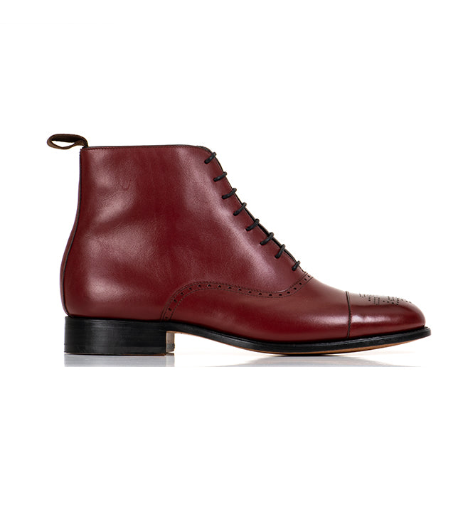 Arcade Straight Boot - Maroon