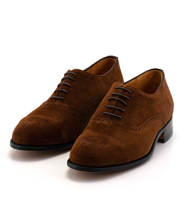 Arcade Straight Shoe - Brown Suede