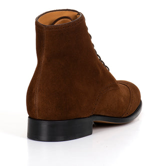 Arcade Wing Boot - Brown Suede