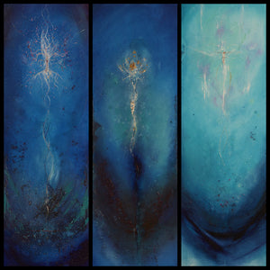 """Faith, Hope and Love"" Triptych Oil On Canvas"