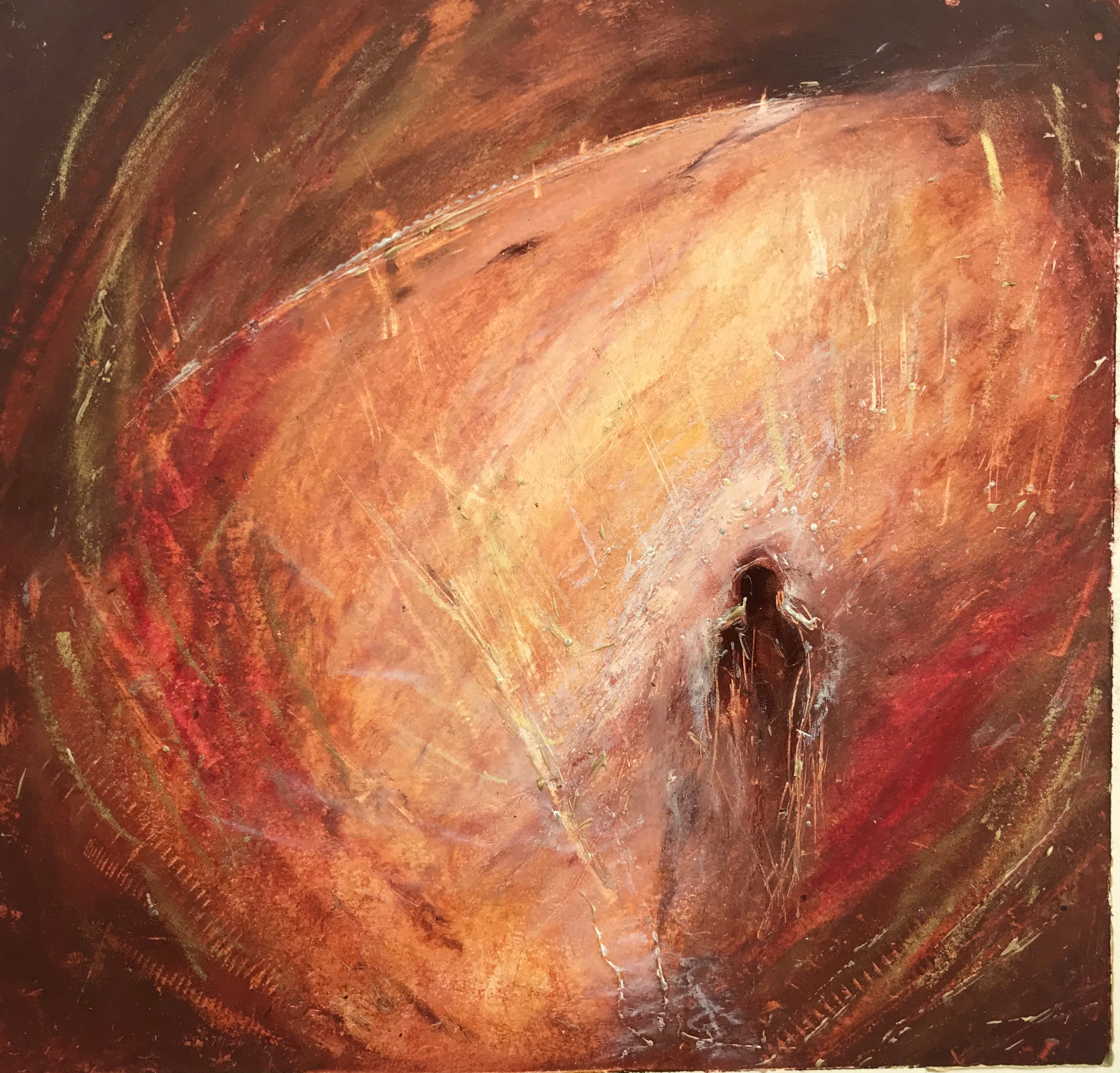 """Seeing The Core"" Oil Pastel Original"