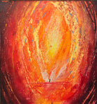 """Alchemy - Fire"" Oil Pastel"