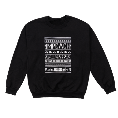 Impeach Holiday Sweater (Black)