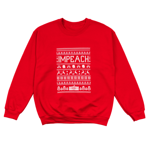 Impeach Holiday Sweater (Red)