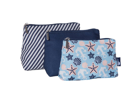 Travel bags Seashell Blue 3-pack
