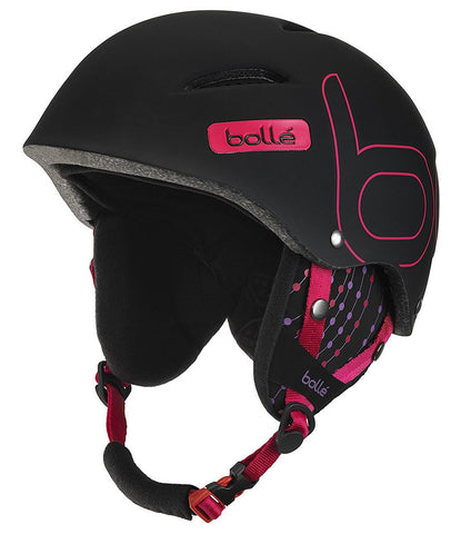 Casco Bollé B-Style (Soft Black and Pink)