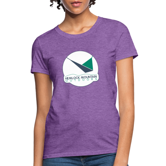 Hemlock Mountain Outdoors Logo Women's T-Shirt - purple heather