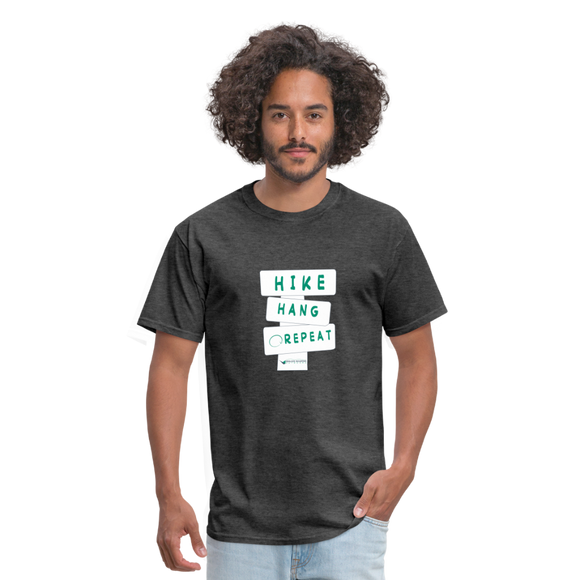 Hike Hang Repeat '21 Men's T-Shirt - heather black