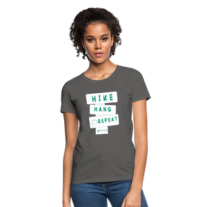 Hike Hang Repeat '21 Women's T-Shirt - charcoal