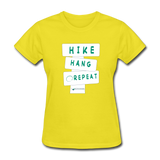 Hike Hang Repeat '21 Women's T-Shirt - yellow