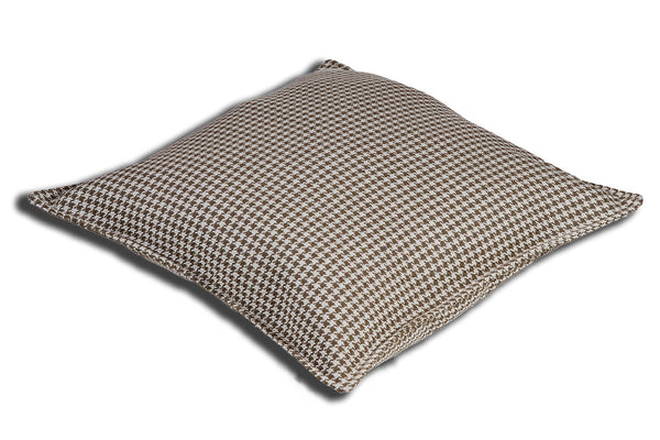 Houndstooth Oyster Grey Cushion