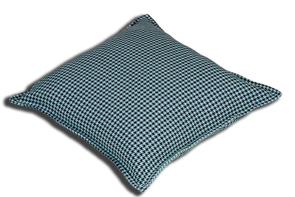 Aranda Weave Houndstooth Seafoam Cushion