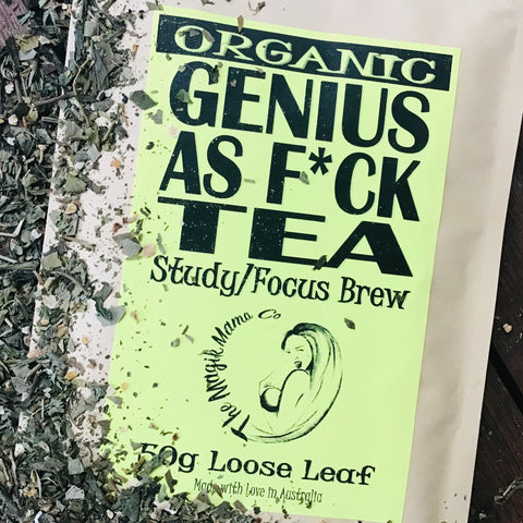 Genius As F*ck Tea - Study/Focus Brew